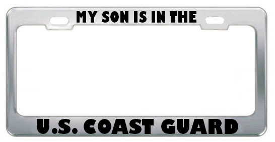 Speedypros My Son Is In The U.S. Coast Guard Military Metal License Plate Frame Holder Border Tag at Sears.com